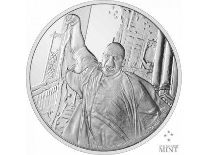 Stříbrná moderní mince Lord Voldemort 1 Oz proof  2021