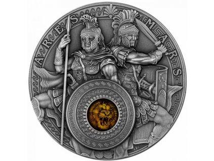 Stříbrná moderní mince Ares a Mars 2 Oz 2021