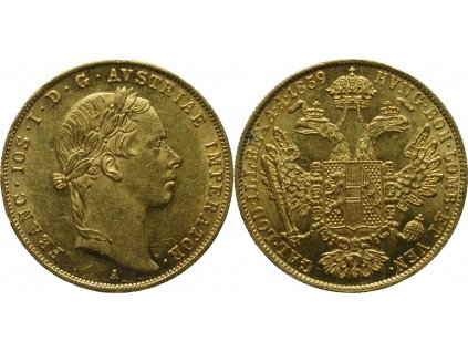 Zlatý dukát František Josef I. 1859 A