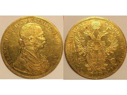 Zlatý 4 dukát 1912
