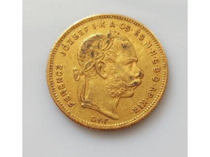 zlatý Osmizlatník-dvacetifrank 1871- G.Y.F.