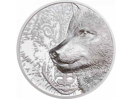 Stříbrná mince Mystický vlk 1 Oz 2021