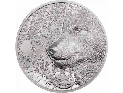 Sběratelská platinová mince Mystický vlk 2021 1 Oz