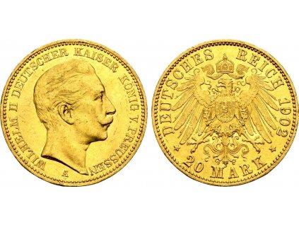 Zlatá 20 marka Vilém II.1902A