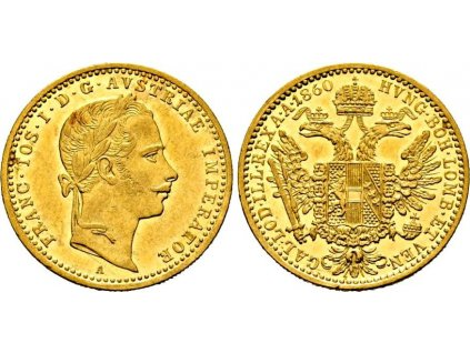 Zlatý dukát Františka Josefa I.-1860 A-RL