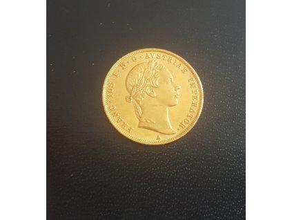 Zlatý dukát Františka Josefa I.-1858 A