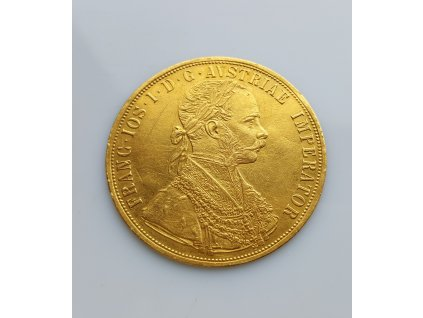 Zlatý čtyřdukát Františka Josefa I. ročník 1891