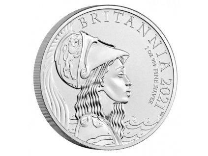 Stříbrná mince Britannia 1 Oz 2021 proof-exkluzivní ražba