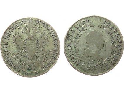 Stříbrný 20 krejcar František I. 1813 A