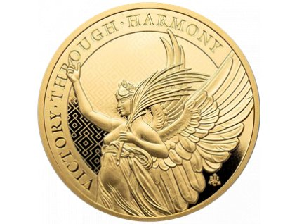 Investiční zlatá mince  Ctnosti královny-Vítězství  1Oz-2021