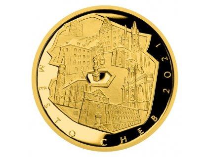 Zlatá mince 5000 Kč 2021 Cheb Proof-1/2 OZ