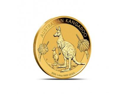 Investiční zlatá mince australský klokan-nugget -2020 1/4 Oz