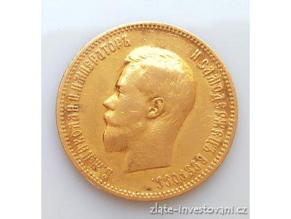 5495 zlata mince rusky 10 rubl milukas ii 1900 ag