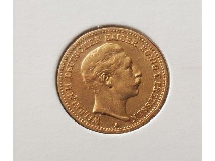 zlatá pruská 10 marka Wilhelm II. 1901