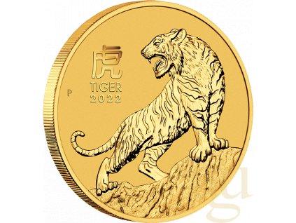 Zlatá mince rok tygra 2022-1/10 Oz -lunární série III.