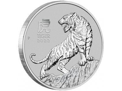 Investiční platinová mince 1 Oz -Tygr 2022-100 AUD lunární série III.