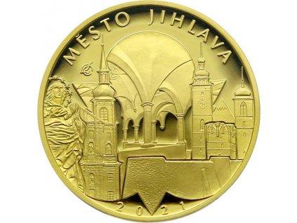 Zlatá mince 5000 Kč 2021 Jihlava Proof-1/2 OZ