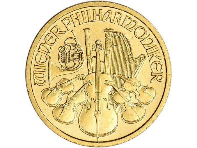 Investiční zlatá mince Wiener Philharmoniker 1/10 Oz