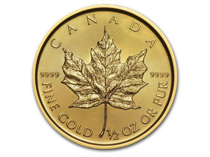 Investiční zlatá mince kanadský Maple leaf 1/2 Oz