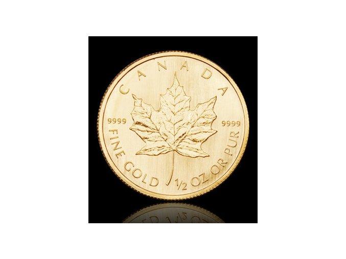 1946 investicni zlata mince kanadsky maple leaf 1 2 oz
