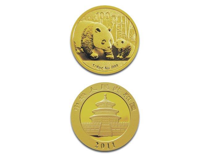 1955 investicni zlata mince panda 2015 1 4 oz