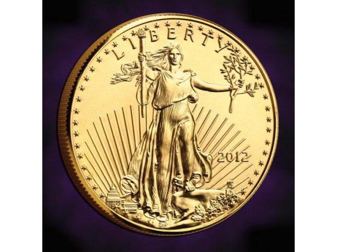 1970 investicni zlata mince american eagle 1 10 oz