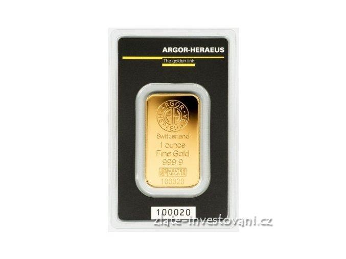 1991 investicni zlata cihla argor heraeus 1 oz