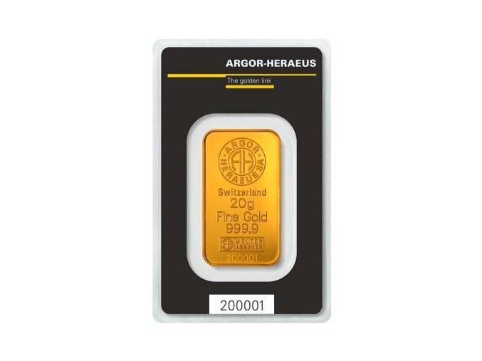 2012 investicni zlata cihla argor heraeus 20g