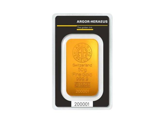 2015 investicni zlata cihla argor heraeus 50g