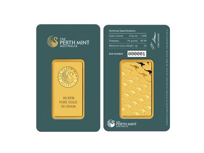 Investiční zlatý slitek Australský Kangaroo 50g