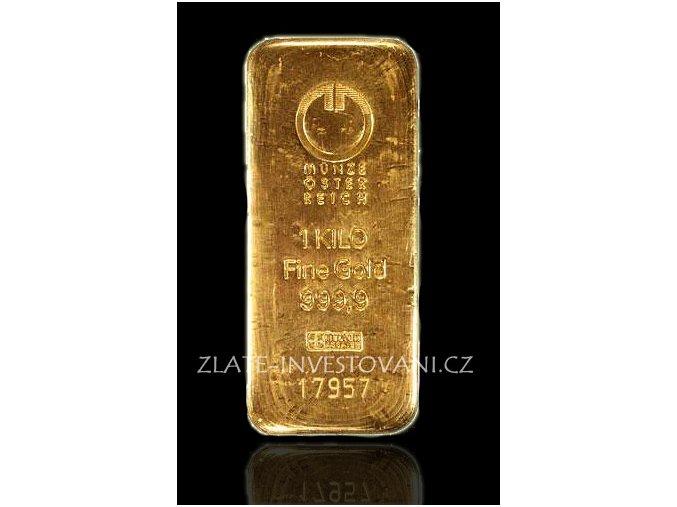 Investiční zlatý slitek Münze Österreich 1000g