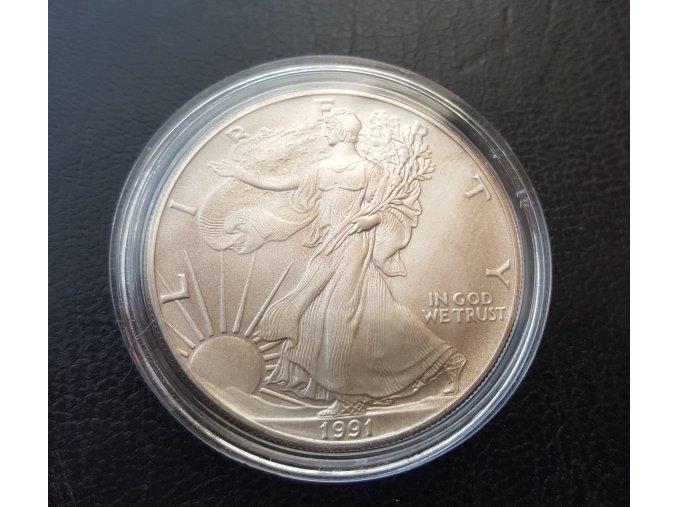Investiční stříbrná mince American Eagle 1 Oz