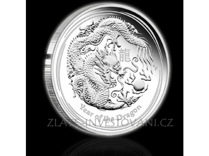 Investiční stříbrná mince rok draka 2012 1000g