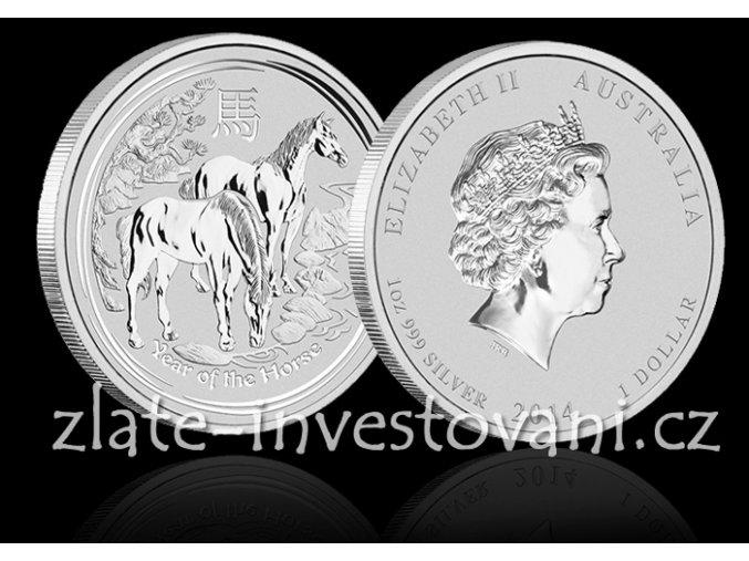 2135 investicni stribrna mince rok kone 2014 1 kg