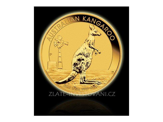 2180 investicni zlata mince australian kangaroo 2012 1 2 oz