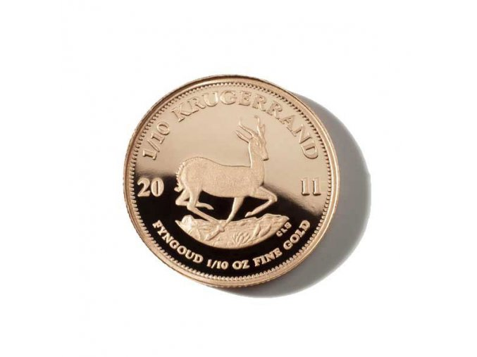Investiční zlatá mince Krugerrand 1/10 Oz
