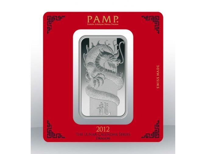 Investiční stříbrný slitek PAMP Rok draka 2012 100g