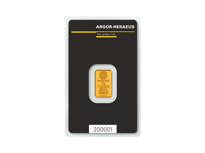 Investiční zlatý slitek Argor Heraeus 2g