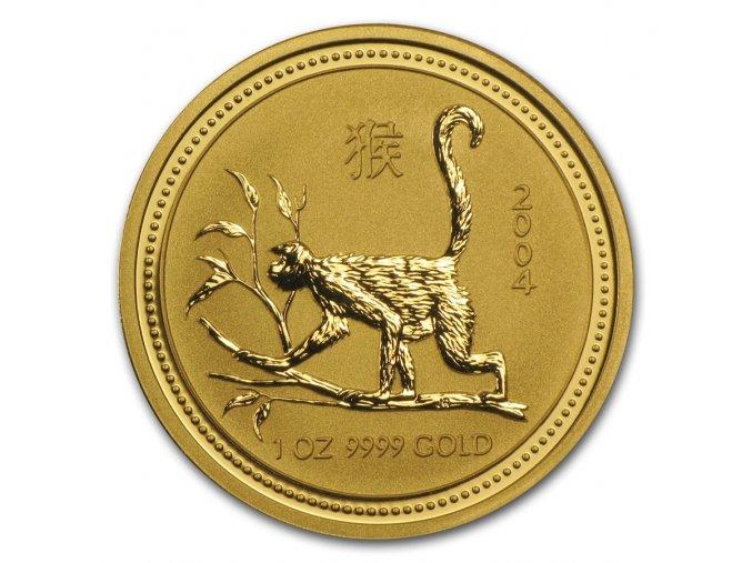Investiční zlatá mince rok Opice 2004 1/4 Oz