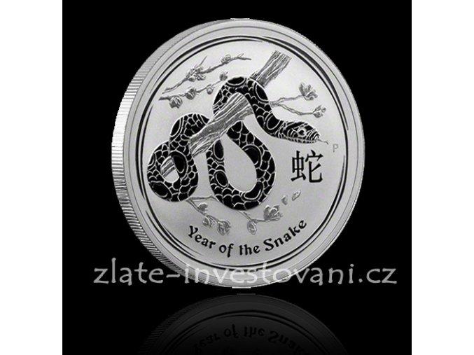 2348 investicni stribrna mince rok hada 2013 1 2 oz