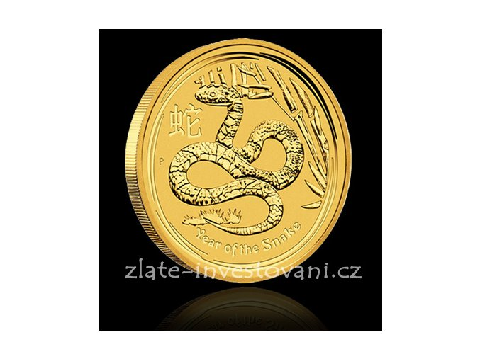 Investiční zlatá mince rok hada 2013 1/4 Oz