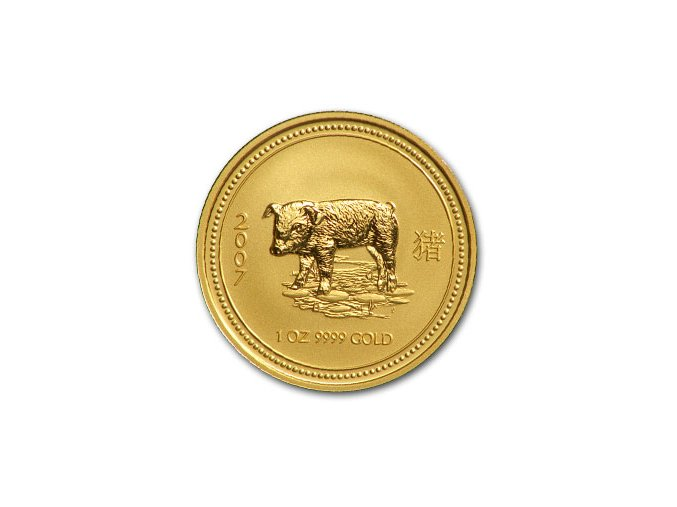 2375 investicni zlata mince rok vepre 2007 1 20 oz