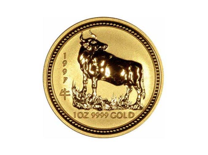 Investiční zlatá mince rok buvola 1997 1/20 Oz