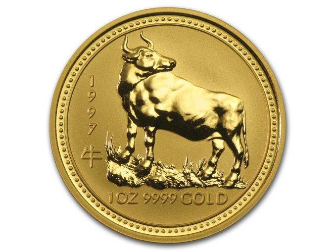 Investiční zlatá mince rok Býka 1997 1/10 Oz