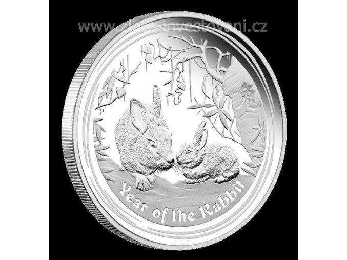 2450 investicni stribrna mince rok kralika 2011 1 oz