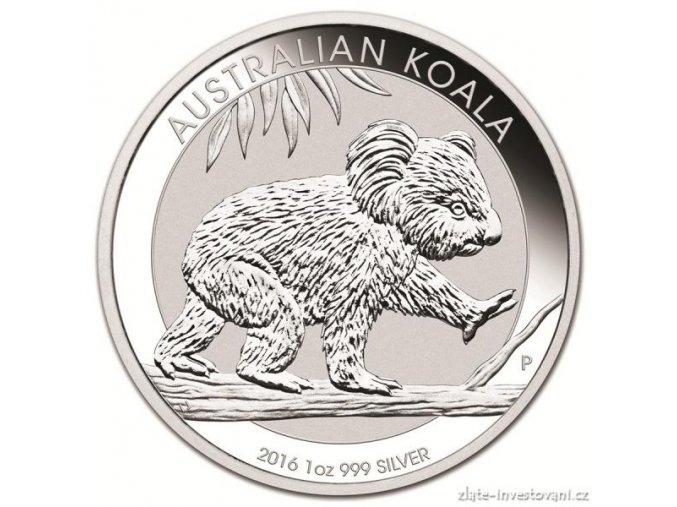 2465 investicni stribrna mince koala 2016 1 oz