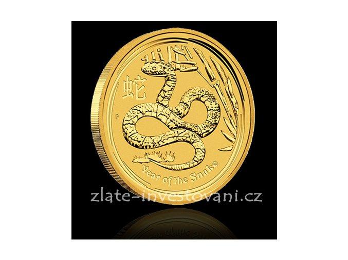 Investiční zlatá mince rok hada 2013 1 Kg