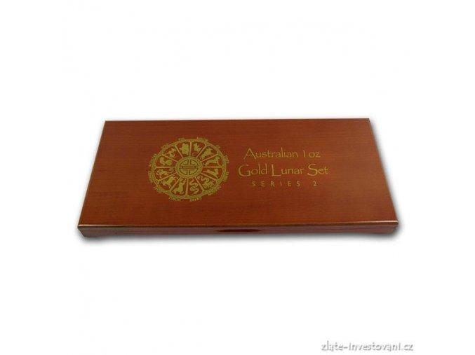 2585 darkova etuje na set zlatych minci 12x 1 oz lunarniho kalendare ii