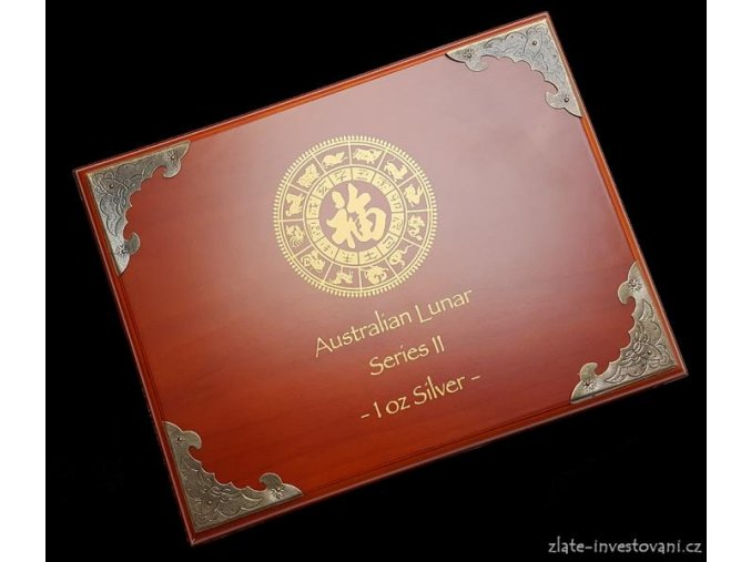 2591 lunarni kalendar 2 etuje na set stribrnych minci 12x 1oz