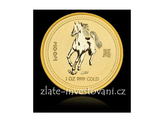 Investiční zlatá mince rok koně 2002 1 Oz